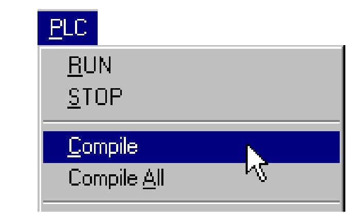 can compile by using the toolbar buttons or the PLC menu. Introduction to PLC © Nikini