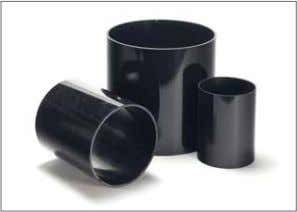 contour. These two features minimize interlocking friction. PolySlide® cylinders, shown here in black, are light-