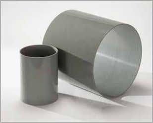 performance of PolySlide and a gelcoated composite cylinder. PolySlide, shown here in gray, is available in