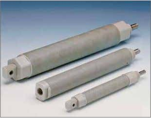 to the tie rods so as not to unequally stress cylinder. PolySlide® cylinders combined with plastic