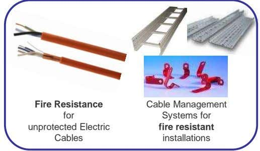 Fire Resistance Cable Management for Systems for unprotected Electric fire resistant Cables installations