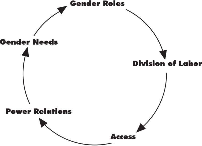 Gender Roles Gender needs Division of Labor Power Relations Access