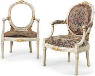 initial 'M' below a coronet Estimate: £300 – 500 A pair of George III parcel-gilt and