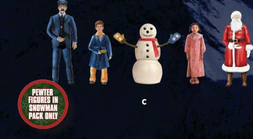PEWTER FIGURES IN C SNOWMAN PACK ONLY