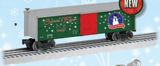 "• • • Length: 11"" $42.99 Operating couplers Opening doors BOXCAR PLAYS CHRISTMAS MUSIC 18"