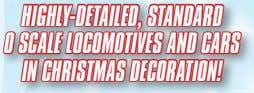 STANDARD 0 SCALE LOCOMOTIVES AND CARS IN CHRISTMAS DECORATION! DIE-CAST METAL TRAIN SET! D LIONEL.COM