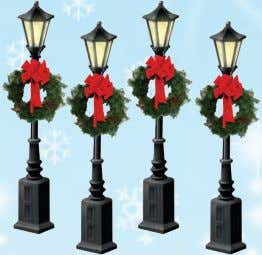 Christmas houses! • Six hand-painted pewter figures • Average height: 1 3 ⁄ 8 $24.99 A