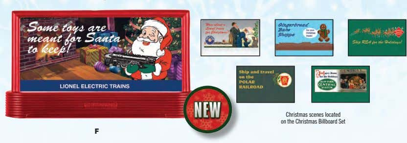 Christmas scenes located on the Christmas Billboard Set F