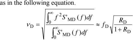 as in the following equation. ∫ ∞ f 2 S ' f df ) MD