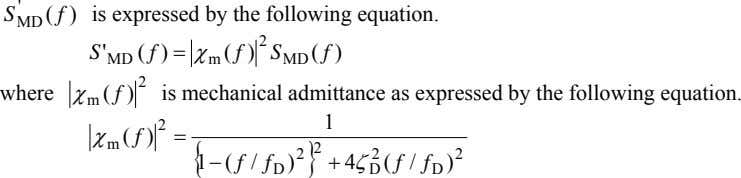 ' S f ) is expressed by the following equation. MD ( S ' f