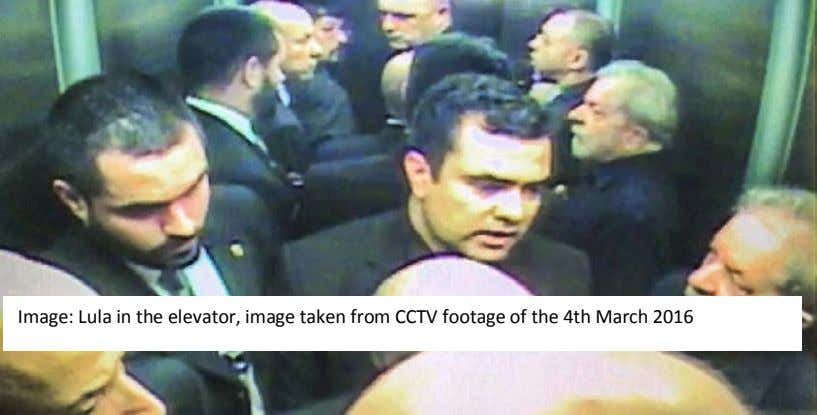 Image: Lula in the elevator, image taken from CCTV footage of the 4th March 2016