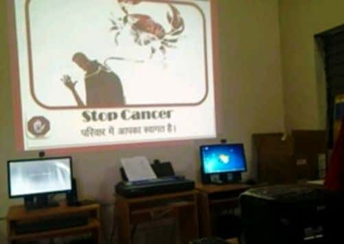 Room for Onsite Site Monitoring ICT LAB FOR AWARENESS Cancer Aware Program for all the Teachers