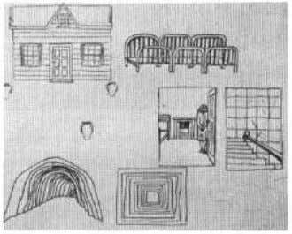 Page 95 c d e c. Sketches showing the external architectural design and layout of the