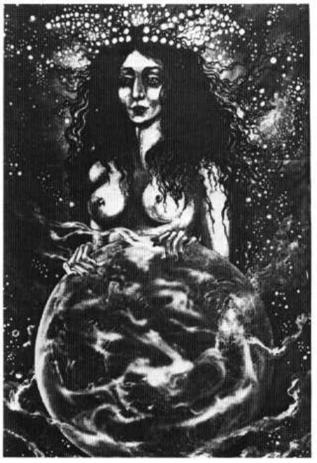 Mother Goddess, the Great Hermaphrodite, or the Cosmic Man. Figure 15 A painting by Guenn Eoná