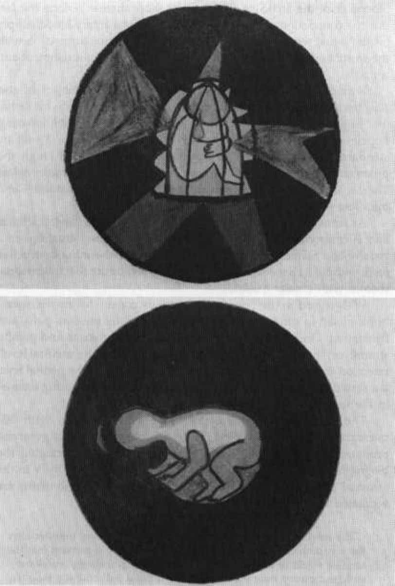 Page 17 Figure 1ab Two paintings depicting an imprisoned fetus struggling to free herself from the