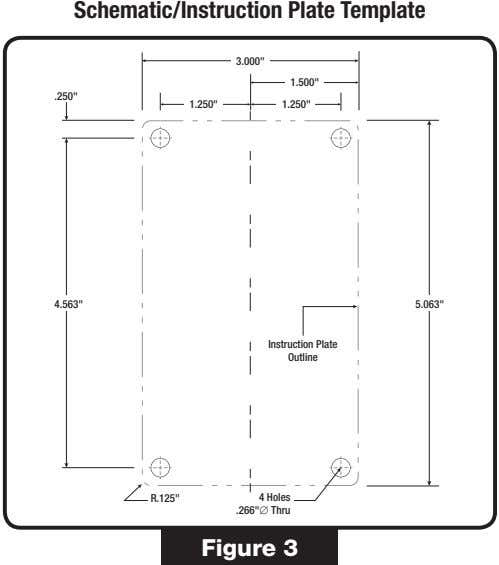 "Schematic/Instruction Plate Template 3.000"" 1.500"" .250"" 1.250"" 1.250"" 4.563"" 5.063"""