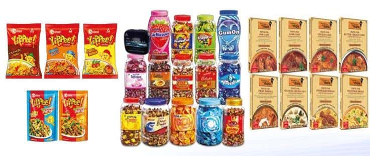 Packaged Foods Portfolio Biscuits, Staples, Snacks, Noodles & Pasta, Confectionery, Ready to Eat, Juices and Dairy