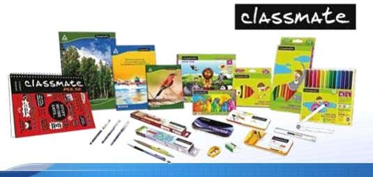 and scholastic products witnessed robust growth  Classmate : Market leader in Notebooks segment (source: IMRB)