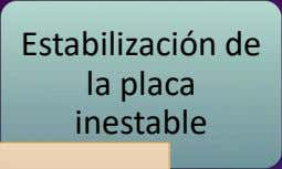 Estabilización de la placa inestable