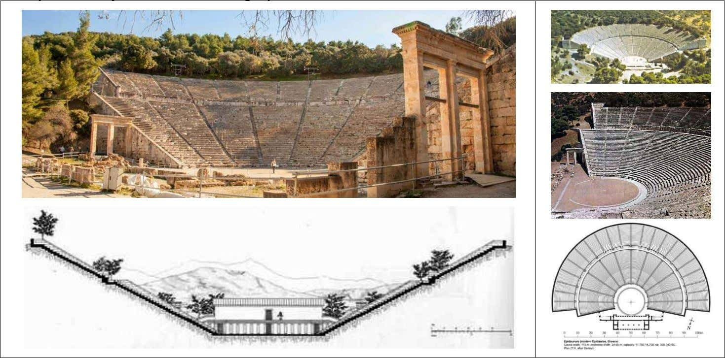 Epidaurus, 4th century BC (Arch. Polykleitos the Younger) Sources: