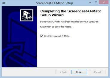 pilih check box jika tidak ingin menjalankan Software . Gambar I.25 Completing the Screencast-O-Matic Setup Wizard