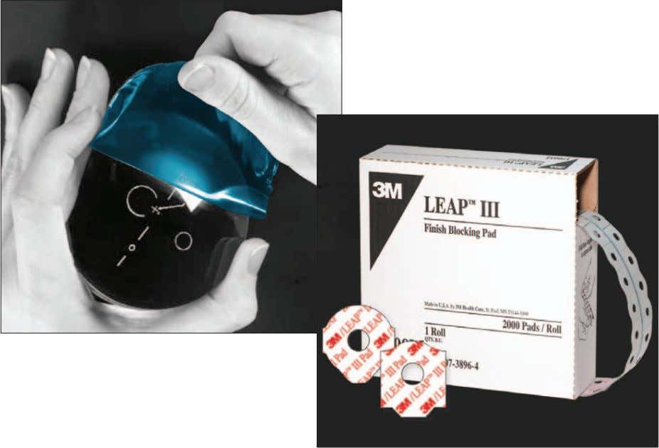 Plus Tape • 3M T M LEAP T M III Finish Blocking Pads 3M Medical Specialties