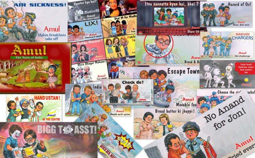 PIC: AMUL ADVERTISEMENT INTERPRETATION: in television media as well as hoardings (outdoor). Amul have telecasted