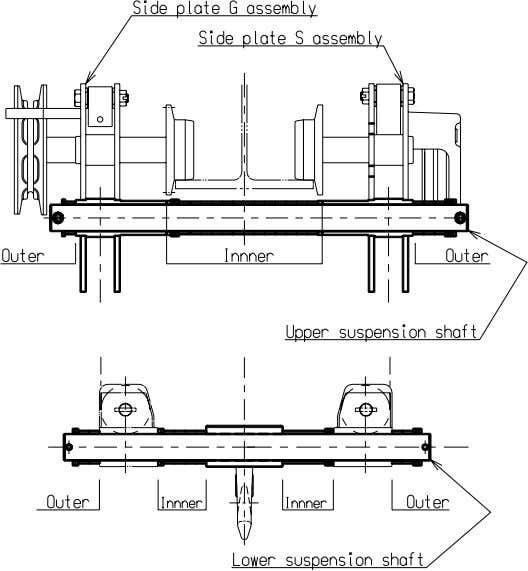 spacers according to the table of spacer shown in the end of this document, as shown