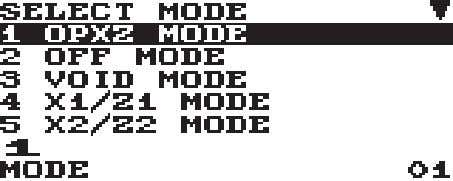 operating modes as shown below. Mode selection window Operating Modes You can select any mode other