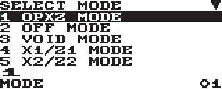 Press the m key. The following mode screen is displayed. Use one of the following ways: