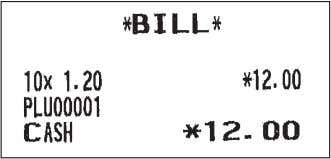 once. When you want to take a bill copy, operate it again. E x a m