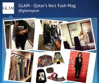 14 FAX: +974 44550982 GLAM SOCIAL MEDIA All you Instagram fans, put your photo snapping skills