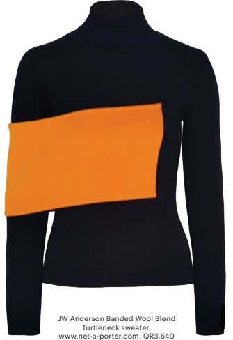 JW Anderson Banded Wool Blend Turtleneck sweater, www.net-a-porter.com, QR3,640