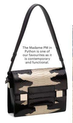 The Madame PM in Python is one of our favourites as it is contemporary and
