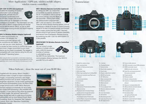 More Applications – GPS unit, wireless mobile adapter, wireless remote controllers Nomenclature ( ) ~