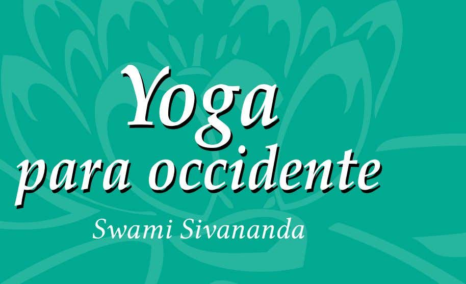 Yoga Yoga para para occidente occidente Swami Sivananda