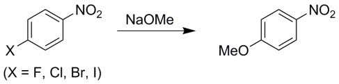 of p -halonitrobenzenes in the following reaction is (A) p -chloronitrobenzene > p -iodonitrobenzene