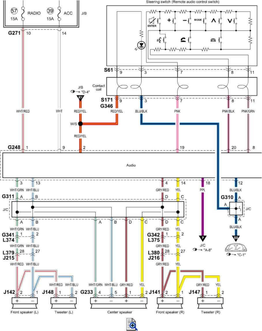 G-1 Audio System Circuit Diagram (without Audio Amplifier)