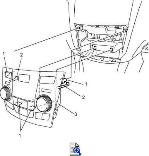 panel from lower side and prevent the claws from damaging. 3) Remove audio unit. 4) Remove