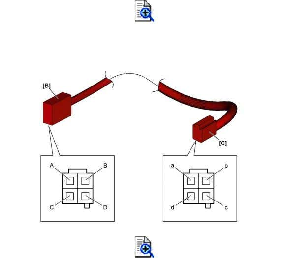 as specified, replace USB harness. USB harness continuity [B]: To USB socket [C]: To audio unit
