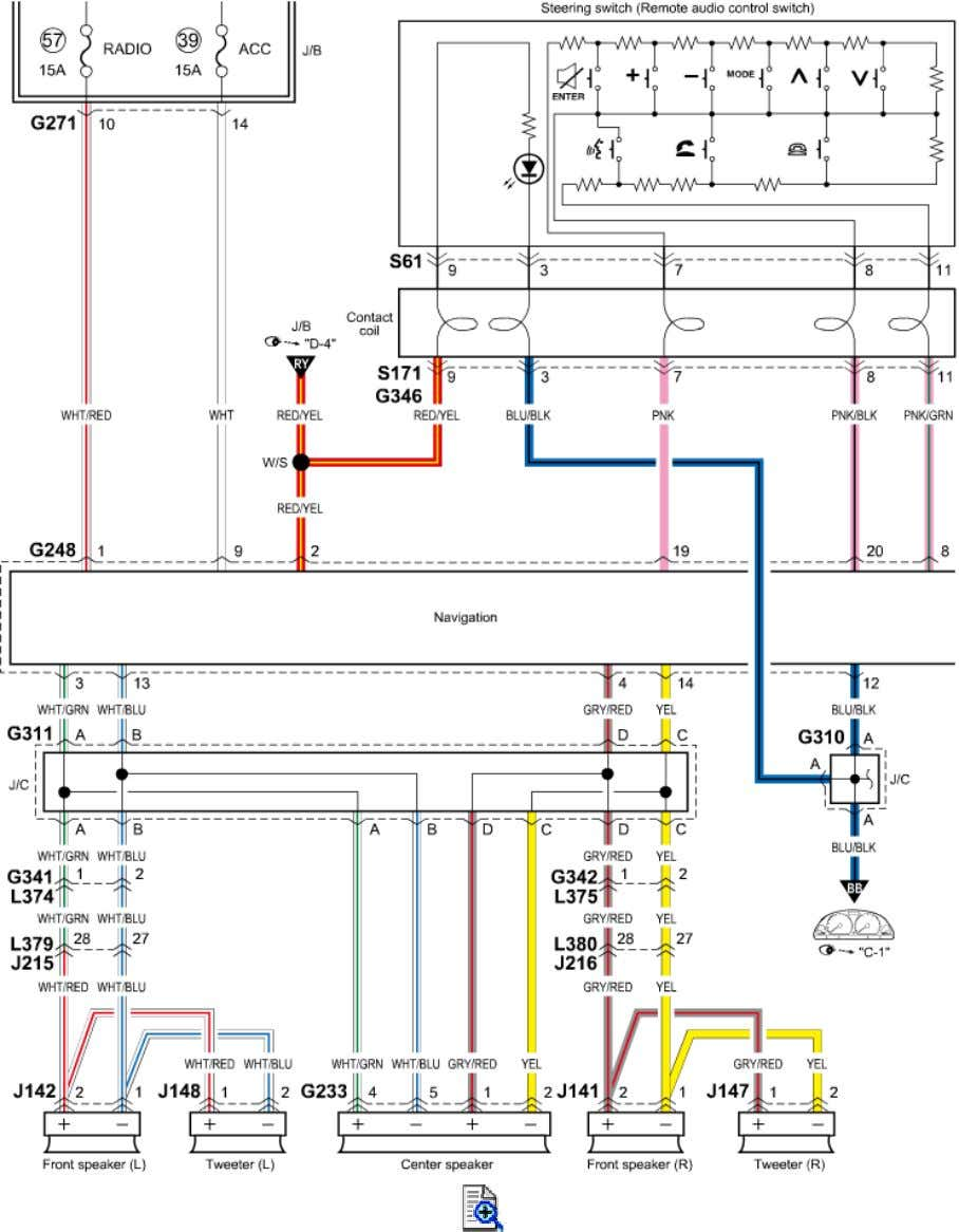 Navigation System Circuit Diagram (without Audio Amplifier)