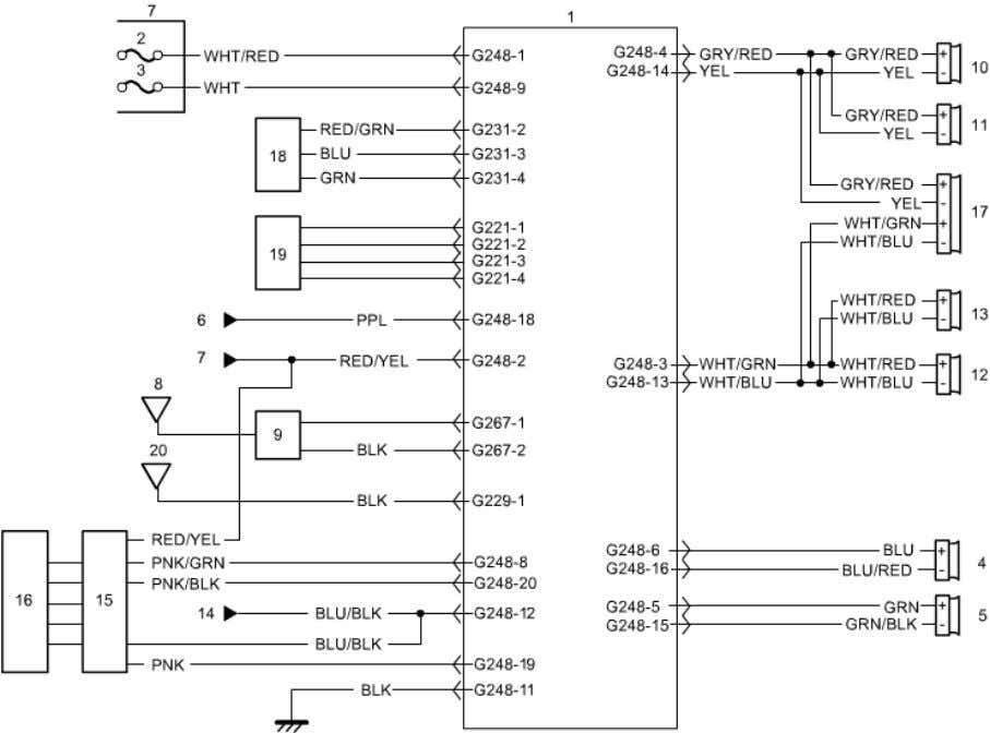 of 2 Audio System Circuit Diagram Without Audio Amplifier 9O 1. Audio unit 8. Printed radio