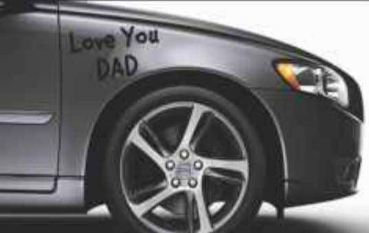"the child had written "" LOVE YOU DAD."" The father could never forgive himself for the"