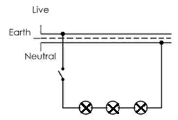 [1 mark] Question 4 Diagram 4 shows a lighting circuit. Diagram 4 (a) What type of