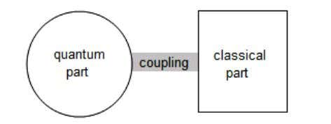 the brain has comes from the quantum part, see Figure 2. Figure 2. Quantum-classical model of
