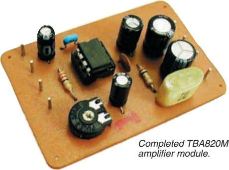 Completed TBA820M amplifier module.