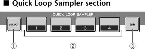 ■ Quick Loop Sampler section 1 2 3