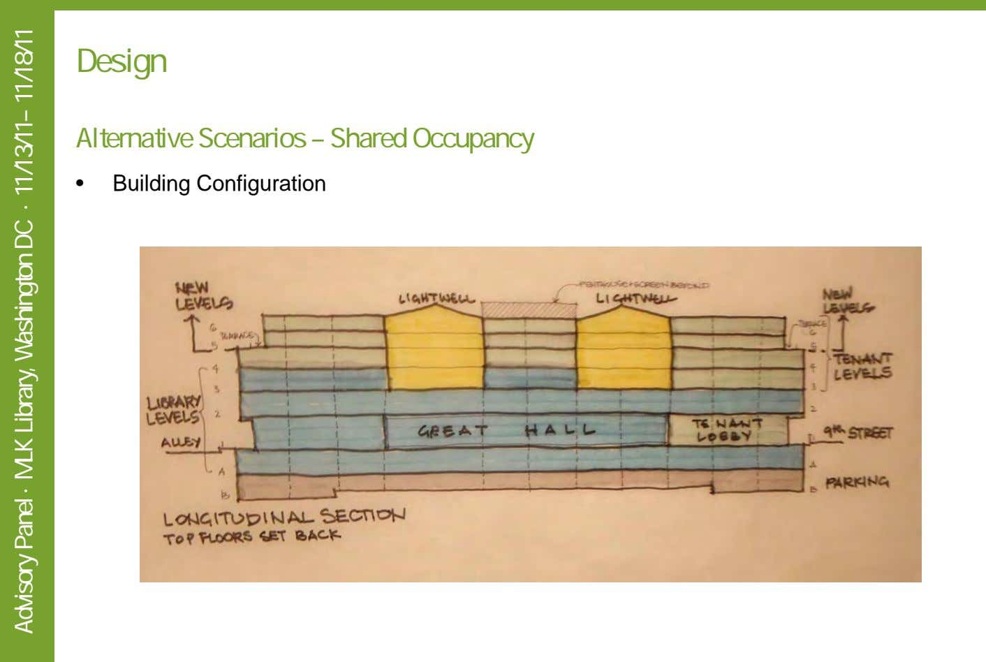 Design Alternative Scenarios – Shared Occupancy • Building Configuration Advisory Panel · MLK Library, Washington