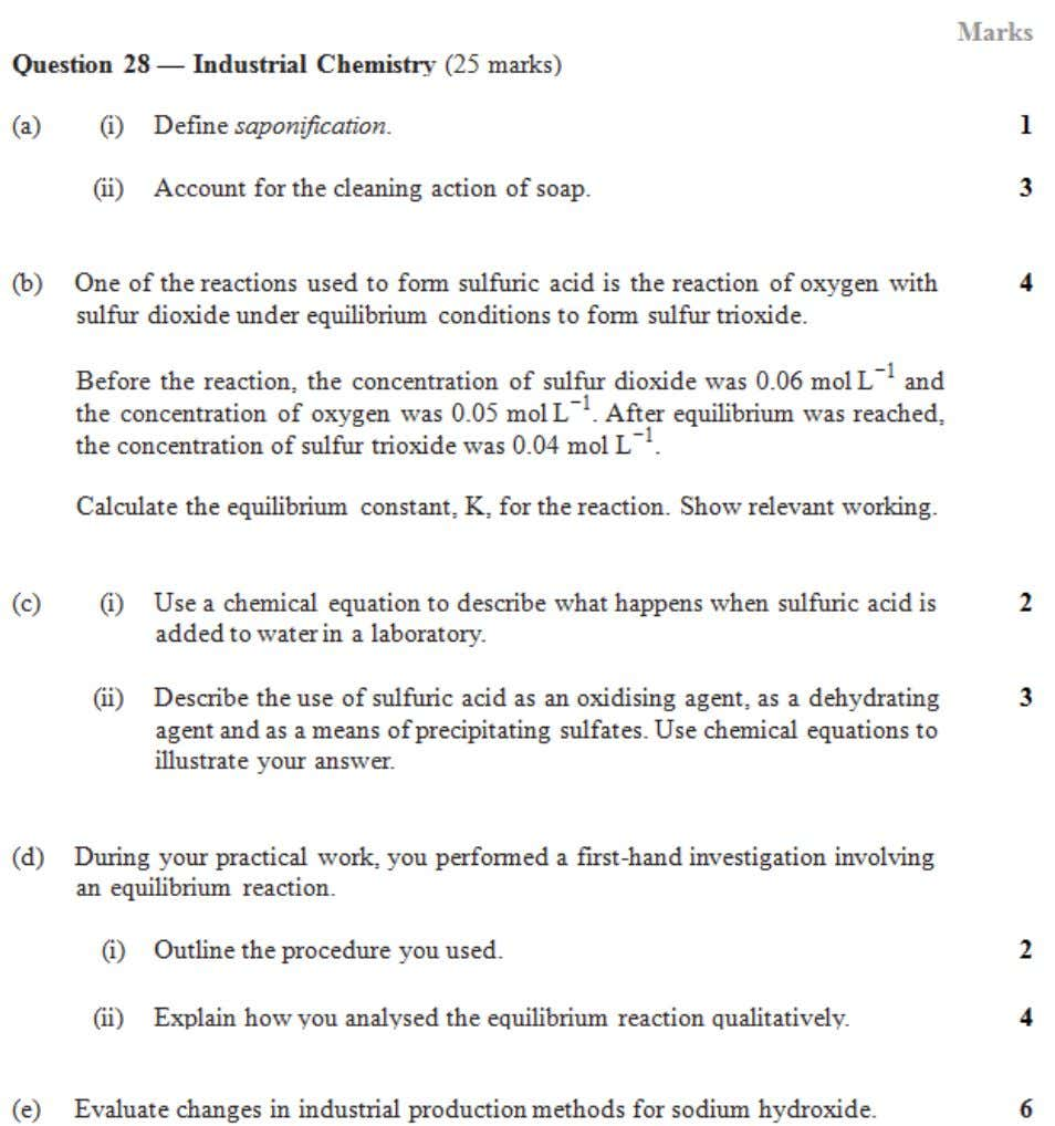 HSC central resources 2002 Chemistry Industrial chemistry 2 | Page