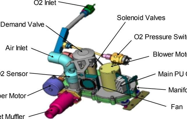 O2 Inlet Solenoid Valves Demand Valve Air Inlet Fan